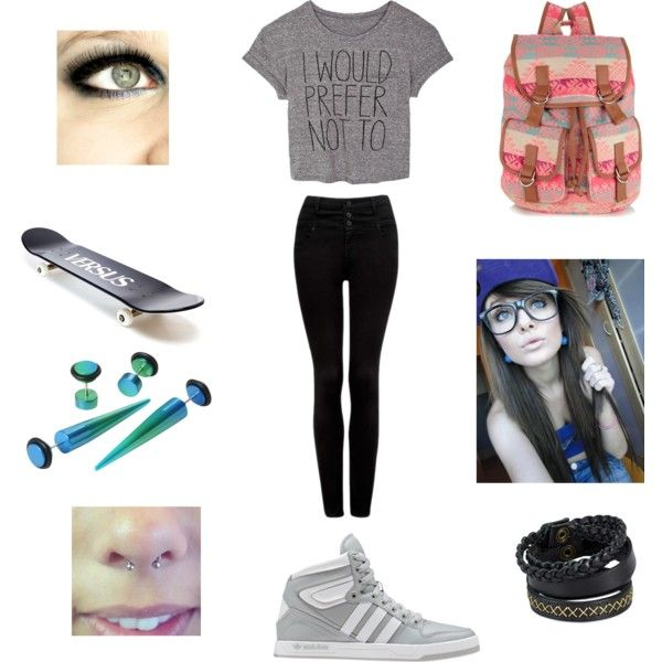 """Punk And Skater Girl <3"" by syd1317 on Polyvore. The perfect Punk and Skater Girl look! <3"