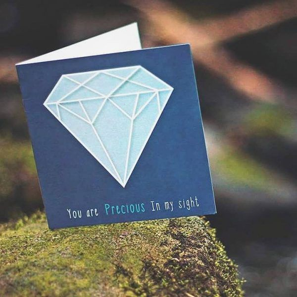 YOU ARE PRECIOUS Inspired by: Isaiah 43:4   Designed to encourage someone who is struggling with… - Self esteem - Identity in Christ - Seeing their value & worth. Available to buy at: www.mannacards.co.uk Manna Cards: Christian Cards of Encouragement for Periods of Wilderness.