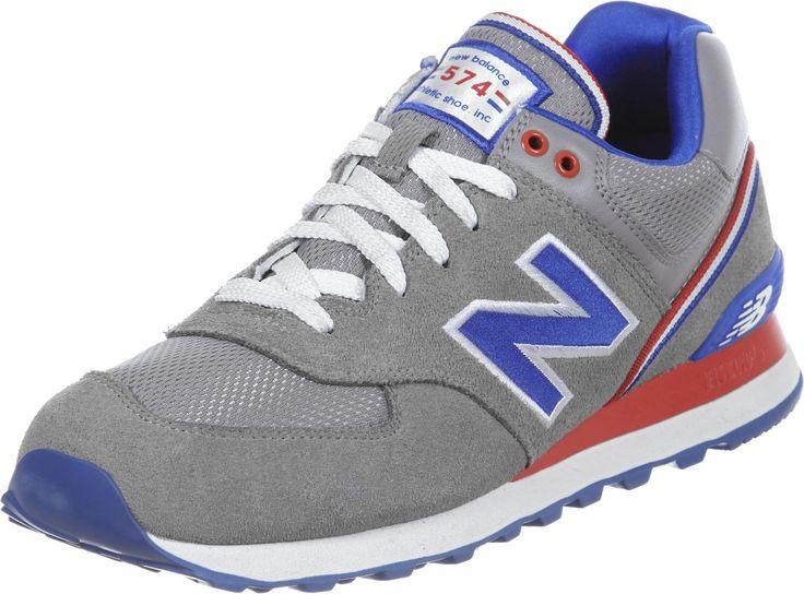 new balance grise bleu rouge