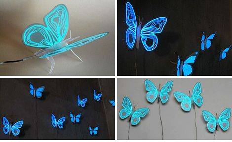 For Gracie:  Electroluminescent Butterfly Nightlight (Images courtesy Inhabitat)