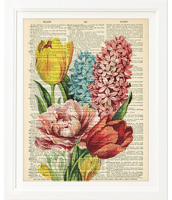 So in love with these prints on vintage dictionary pages. http://www.etsy.com/shop/kiintage
