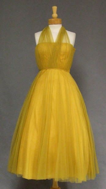 1950's Mustard Tulle .... this is absolutely everything I've ever wanted in my life. Ever.