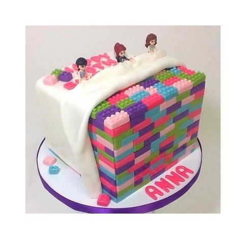 Cute Lego Friends Sleepover Party Cake Lego 174 Birthday