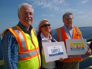 New Pure Michigan License Plates Unveiled, with Michigan Secretary of State Ruth Johnson.