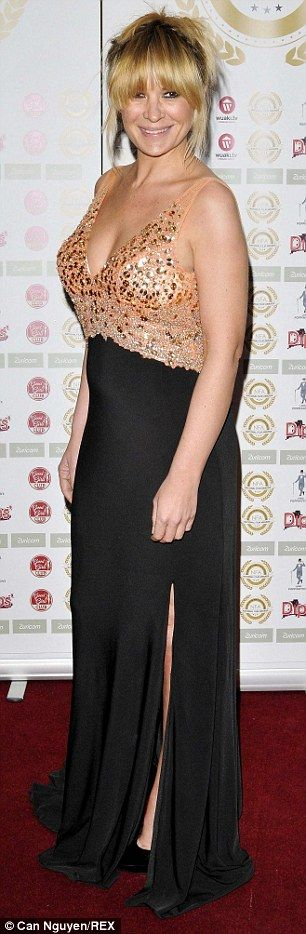 Taking the plunge: ActressKierston bared her cleavage at the National Film Awards...