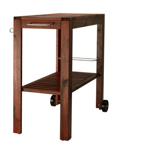 ÄPPLARÖ Outdoor serving cart IKEA The finish is extra durable and able to withstand outdoor use for a longer period before it must be re-glazed. $89.99