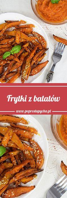 Frytki z batatów posypane sezamem - idealny dodatek do obiadu <3 #poprostupycha #bataty #obiad #przepis