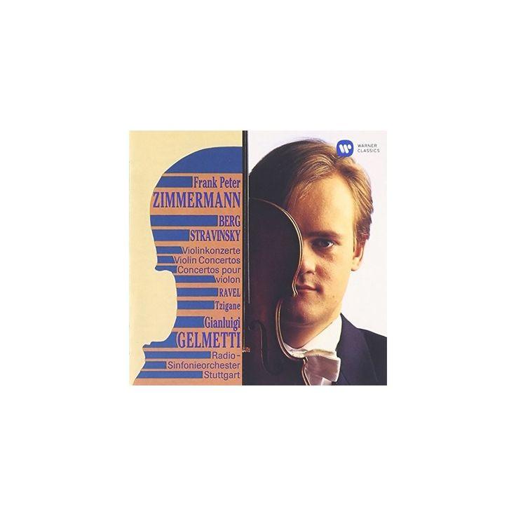 Berg & Frank Peter Zimmermann - Violin Concerto Etc (CD)