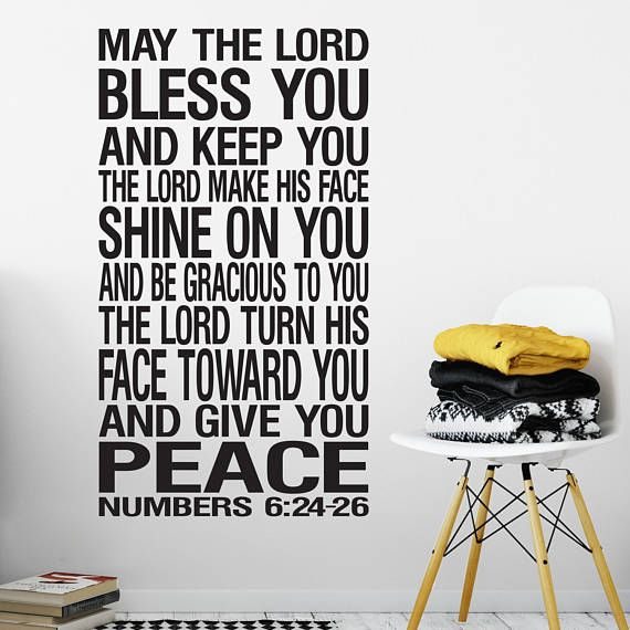 Numbers 6 24 26 Wall Art Vinyl The Lord Bless You And Keep You Etsy Vinyl Wall Art Vinyl Removable Vinyl Wall Decals