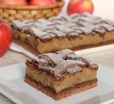 Citromhab: Almás pite kakaós tésztával