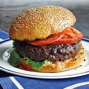 Best Ever Juicy Burgers   MyRecipes.com
