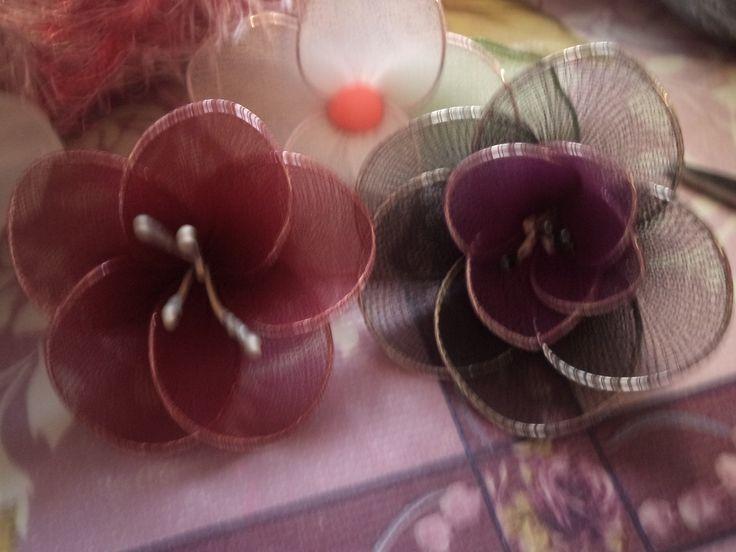 Flores de meia de seda