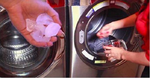 Incroyable! Elle met des glaçons dans son sèche-linge, découvrez pourquoi !