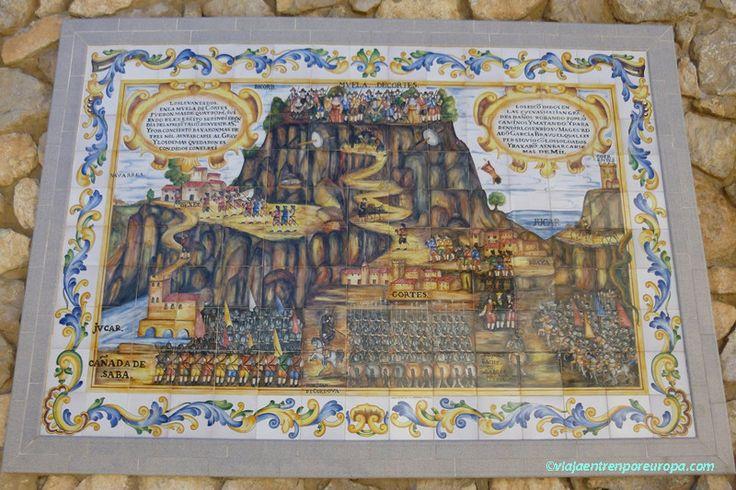 Panel cerámico a la entrada de Cortes de Pallás
