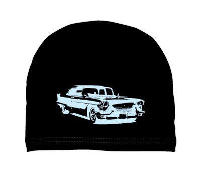 boys: vintage car on black