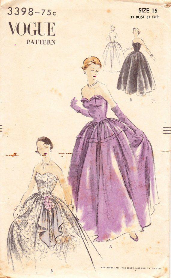 Wedding Bridal Gown Patterns | Vintage Sewing Patterns