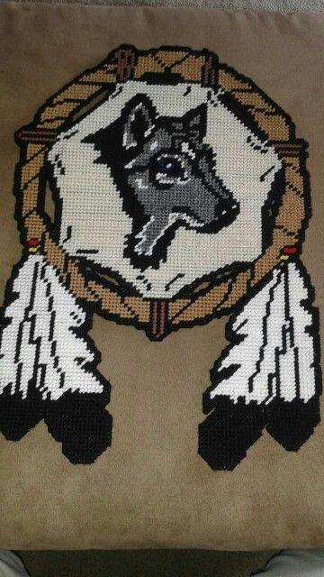 Wolf Dreamcatcher By Accalia 1 2 Animals Pc Hama