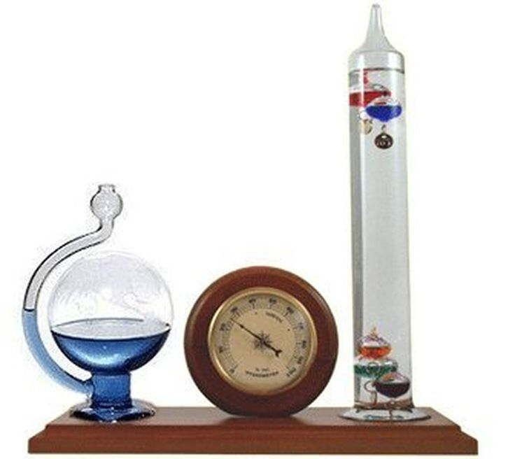 Ambient Weather WS-YG501 Galileo Thermometer Hygrometer and Glass Fluid Barom...