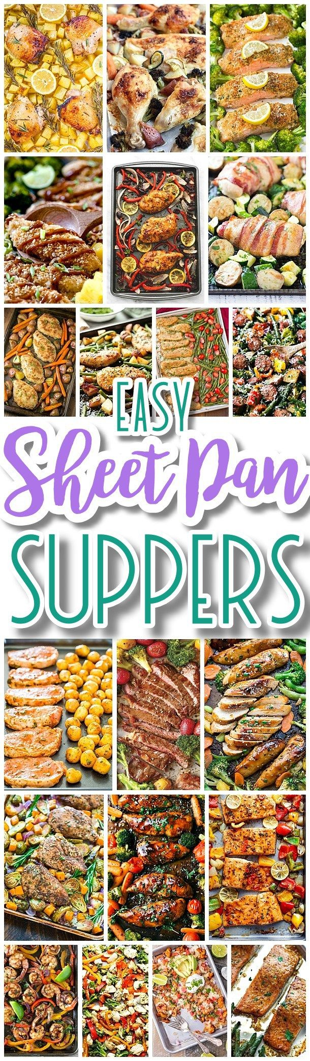 Best 25 supper recipes ideas on pinterest simple supper ideas the best sheet pan suppers recipes easy and quick baked family lunch and simple dinner meal ideas using only one baking sheet pan forumfinder Choice Image