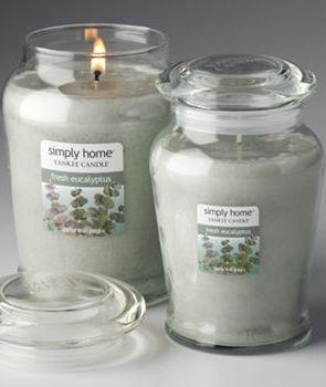 Yankee Candle simply home Fresh Eucalyptus Jar Candles #YankeeCandle #MyRelaxingRituals