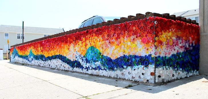 When the Beach Met the Bay: Plastic Mosaic Recalls Hurricane Sandy Destruction | Inhabitat New York City