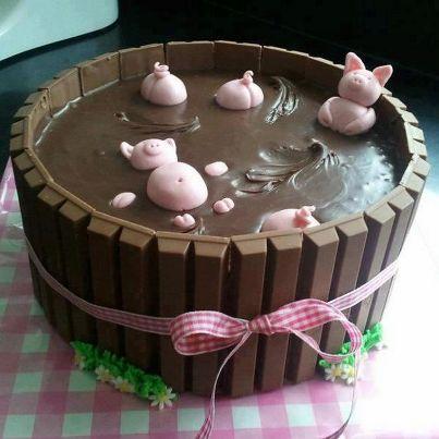 Chocolate bath... so cute!