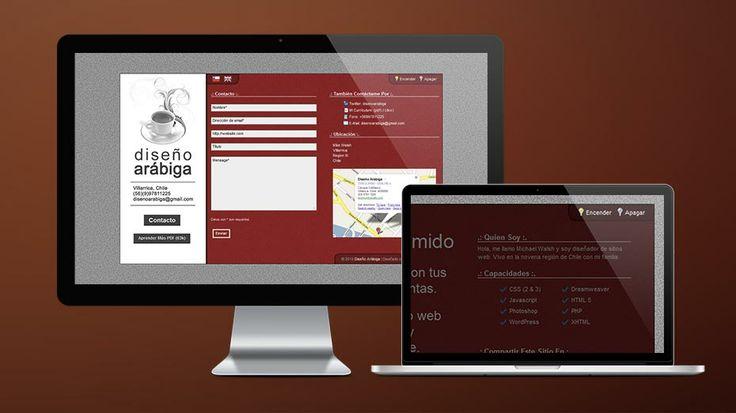 2009: This is the site of my old web portfolio and business, Arabica Design. // Este es el sitio web de la versión anterior de mi negocio de diseño.