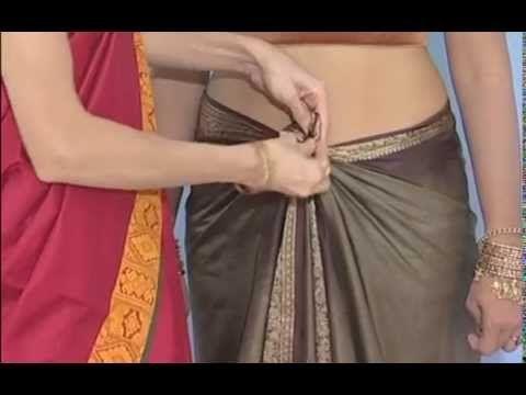 wearing saree maharashtrian style - YouTube