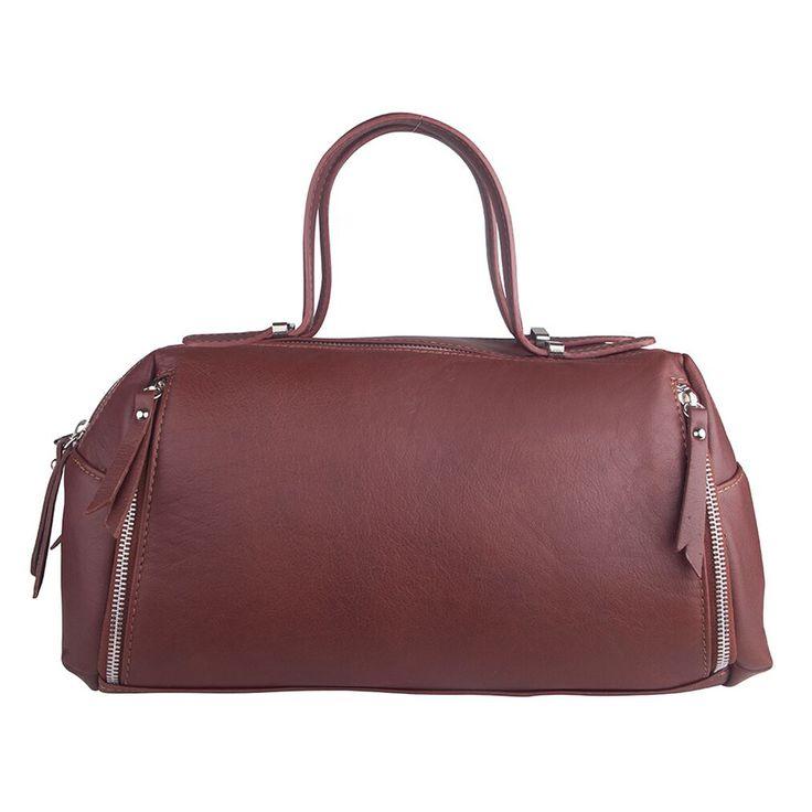 Marlafiji Tanya Rust Price: $289.00 - #leatherbag #italianbag #travelbag