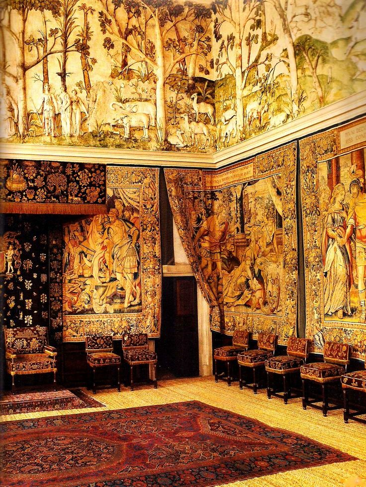 HARDWICK HALL, Derbyshire, England. Built for Bess of Hardwick, it is one of the most important Elizabethan homes in England. Famous for it's tapestries and textiles.