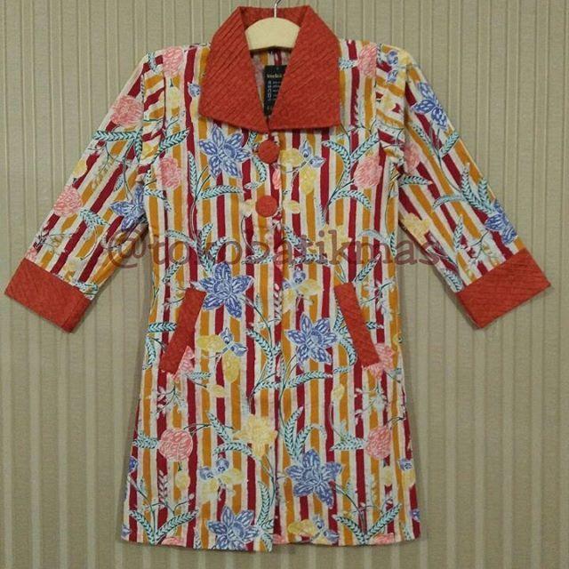 Dress Garis  Kain Batik Encim Garis  Size S  IDR 155.000