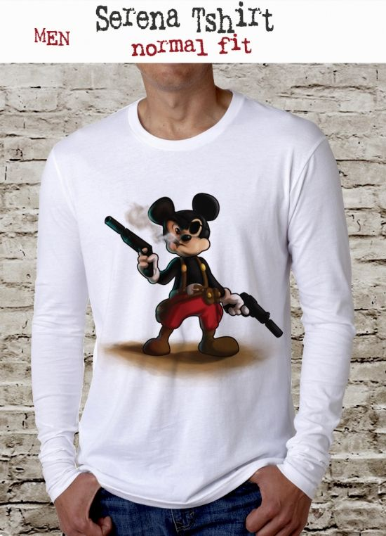 mickey mouse with pistol tee, funny t shirt, movie t shirt, mouse tshirt, anishar t shirt