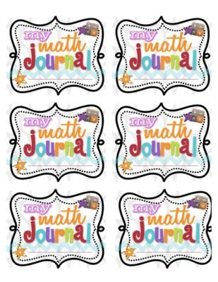 Math Journal Labels from Living Laughing & Loving on TeachersNotebook.com - (3 pages)