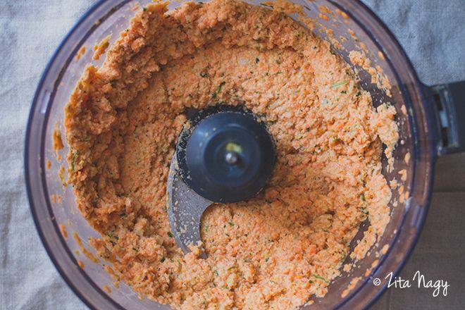 Ropogós vöröslencse fasírt (laktózmentes, gluténmentes, vegán)