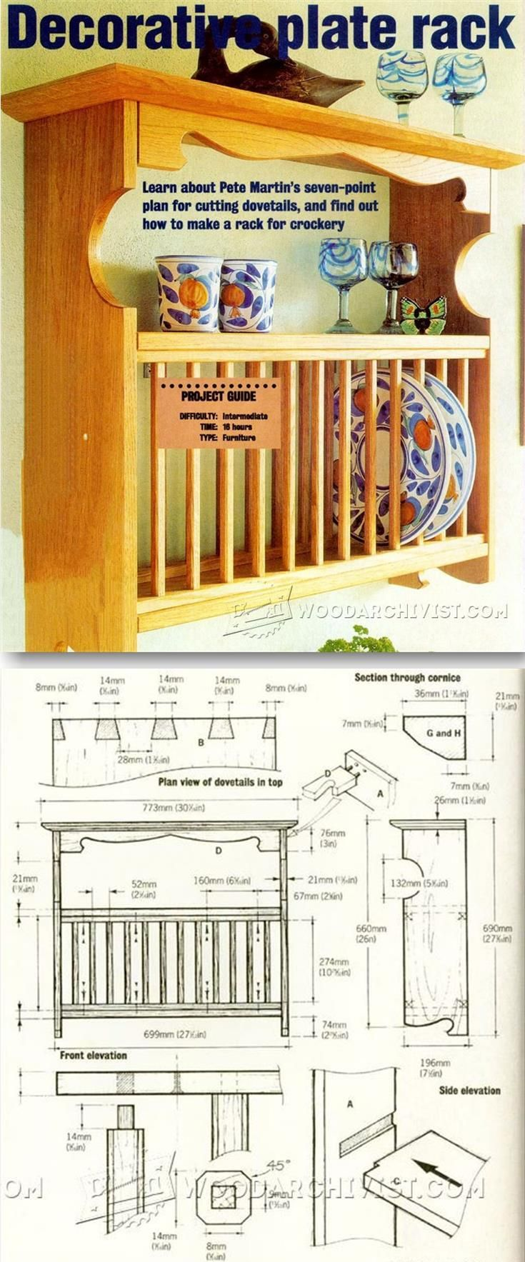 Plate Rack Plans - Woodworking Plans and Projects | WoodArchivist.com