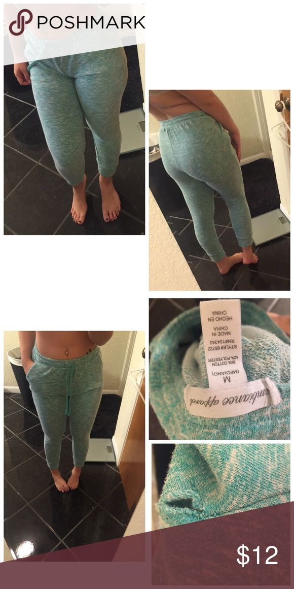 Ambiance apparel teal jogger pants Gently worn  Only flaw (tiny hole , but can be fixed by sewing! )   Gently worn ambiance apparel teal & white jogger pants   Color: teal  Brand: ambiance apparel   Size: Medium  Any questions feel free To ask! NEXT OR SAME DAY SHIP. Ambiance Apparel Pants Track Pants & Joggers