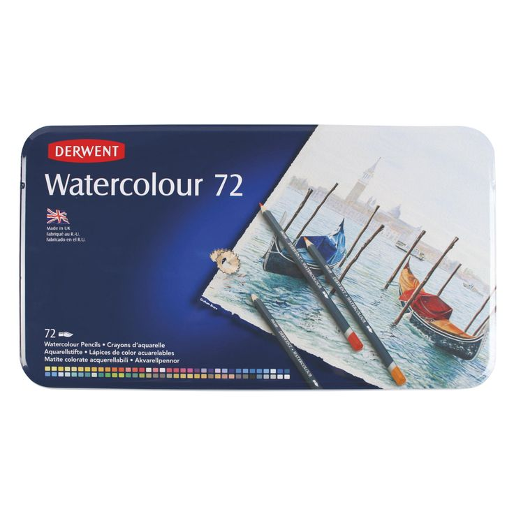 Derwent Watercolour set di matite acquerellabili astuccio da 72