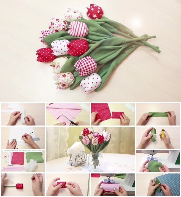 How to Make Fabric Tulips –> http://www.buzzinspired.com/how-to-make-fabric-tulips/