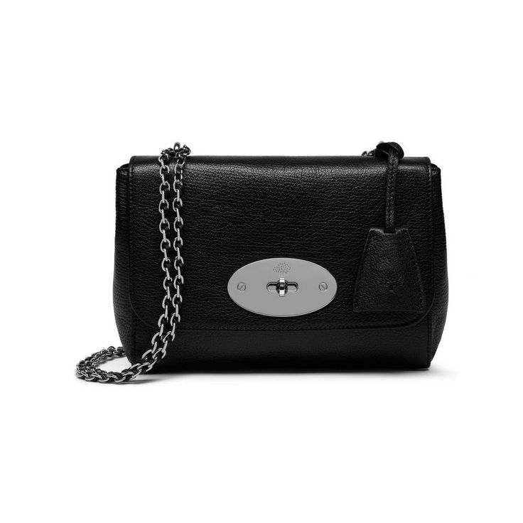 Lily in Black Glossy Goat with Silver Tone | Women | Mulberry