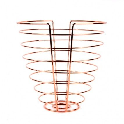 Linea Fruit Basket - Copper - Present Time metal wire fruit dish
