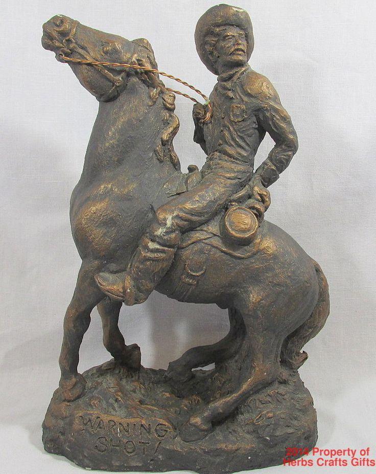 Warning Shot Cowboy Billy Burns Southwestern Sculpture Art  #BillyBurns