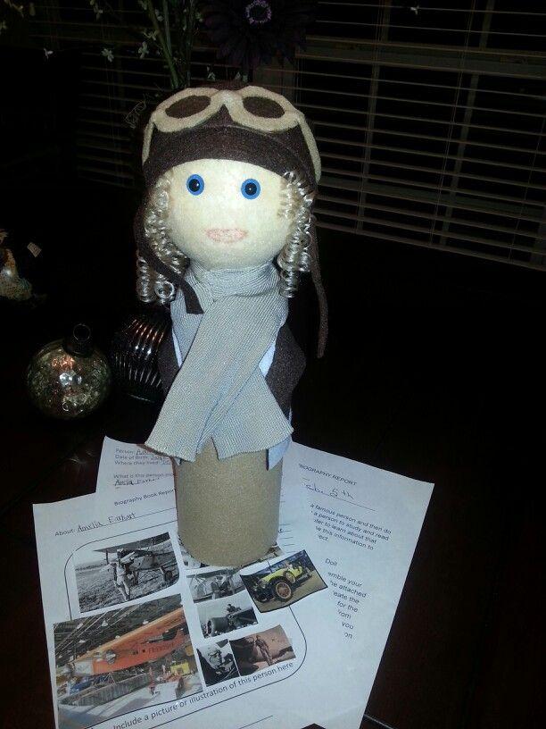 Biography Bottle-Amelia Earhart | Teaching :) | Pinterest