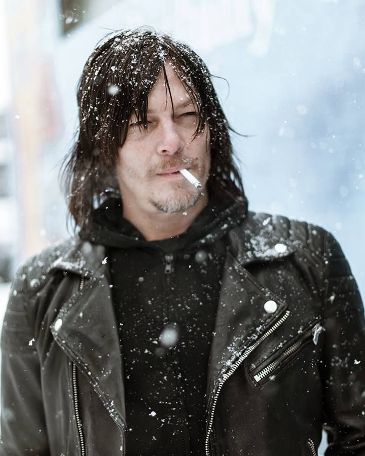 Norman out in the NYC snow