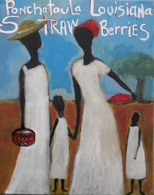 black folk art prints - R A Y A F I N E A R T G A L L E R Y