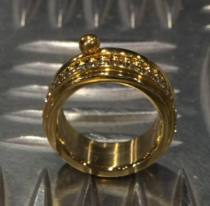 iXXXi ring gold & Bluelinezeewolde