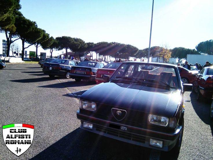 Incontro auto storiche con il Club Alfisti Romani all'area di servizio Settebagni domenica 21-12-2014. @alfaromeoglobal #Alfa #AlfaRomeo #AlfistiRomani https://www.facebook.com/alfistiromani #AutoDelta #Giuletta #GiulettaTurboDelta