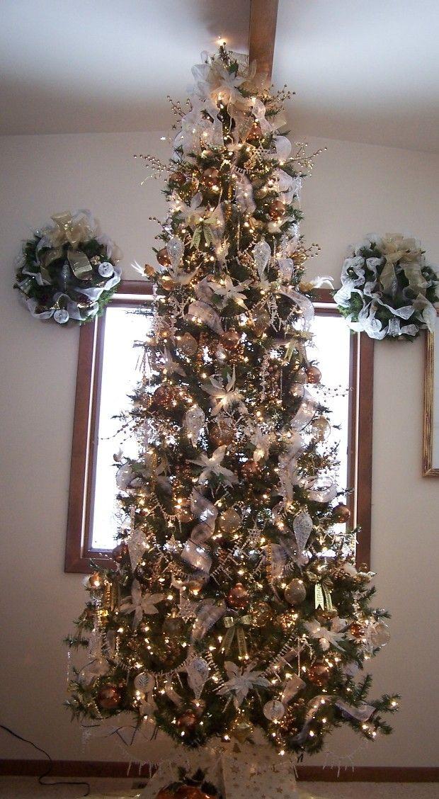 gold angel hair christmas decoration