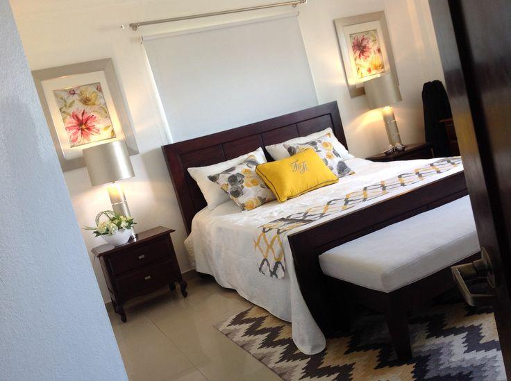 Habitación matrimonial, gris y amarillo by Ruth Vargas