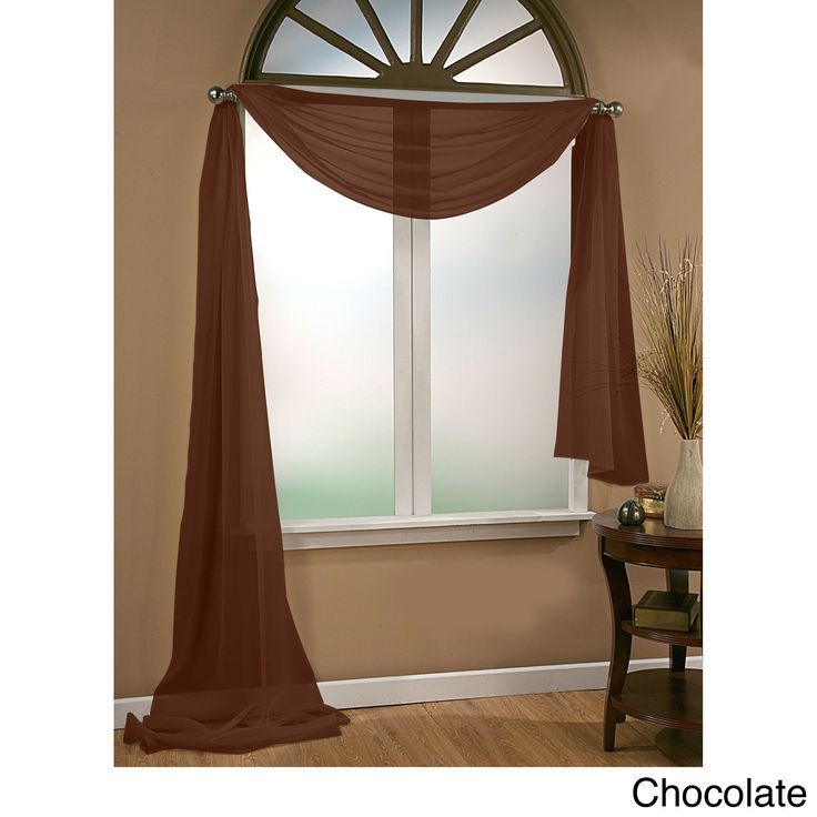 Infinity Sheer Window Scarf Valance***white.. family room/living room**gold/maroon for master