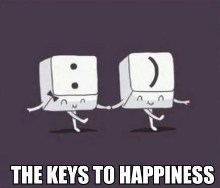 Funny Quote: The (computer) keys to happiness! Awwww :)